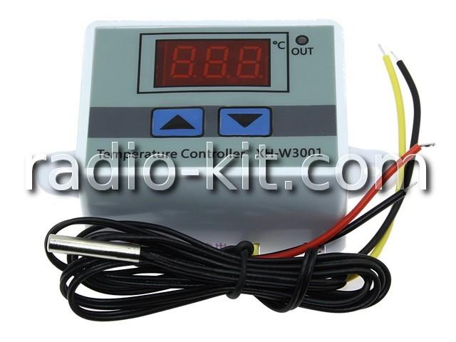 """Терморегулятор цифровой DC24V индикатор 0,36"""" красный XH-W3001 Корпус"""