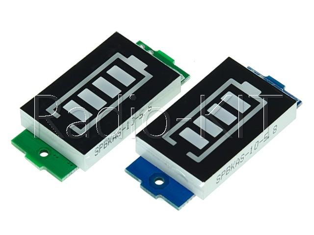 Индикатор заряда аккумулятора с LED-индикатором  8,4V 2S синего свечения XW228DKFR4