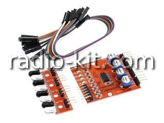 Датчик оптоэлектронный 4-канальный светодиод-фотодиод для Ардуино YL-70+YL-73(4 шт.)Модуль