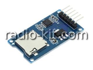 Интерфейс управления картой microSD для Ардуино Модуль на LVC125A